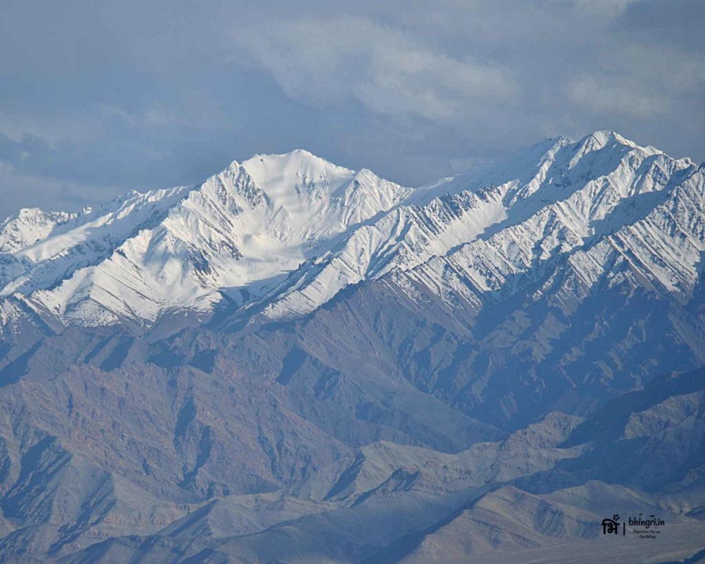 Magnificent Himalayan views from Leh town