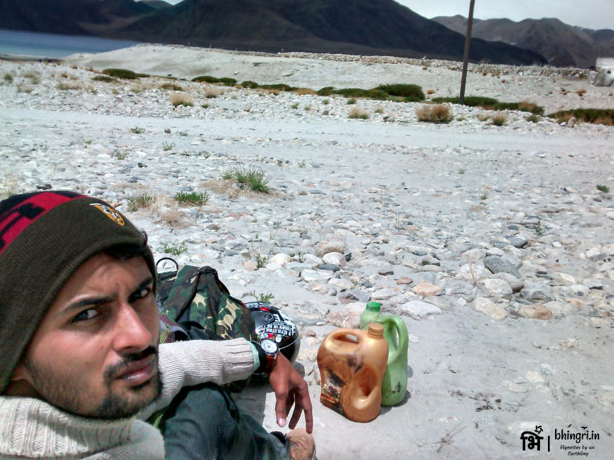 Taking selfie while waiting for rescue