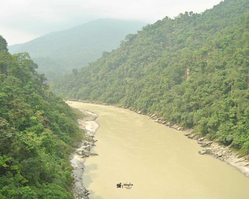 Mighty Teesta. Miles later she will meet Brahmaputra in Bangladesh.