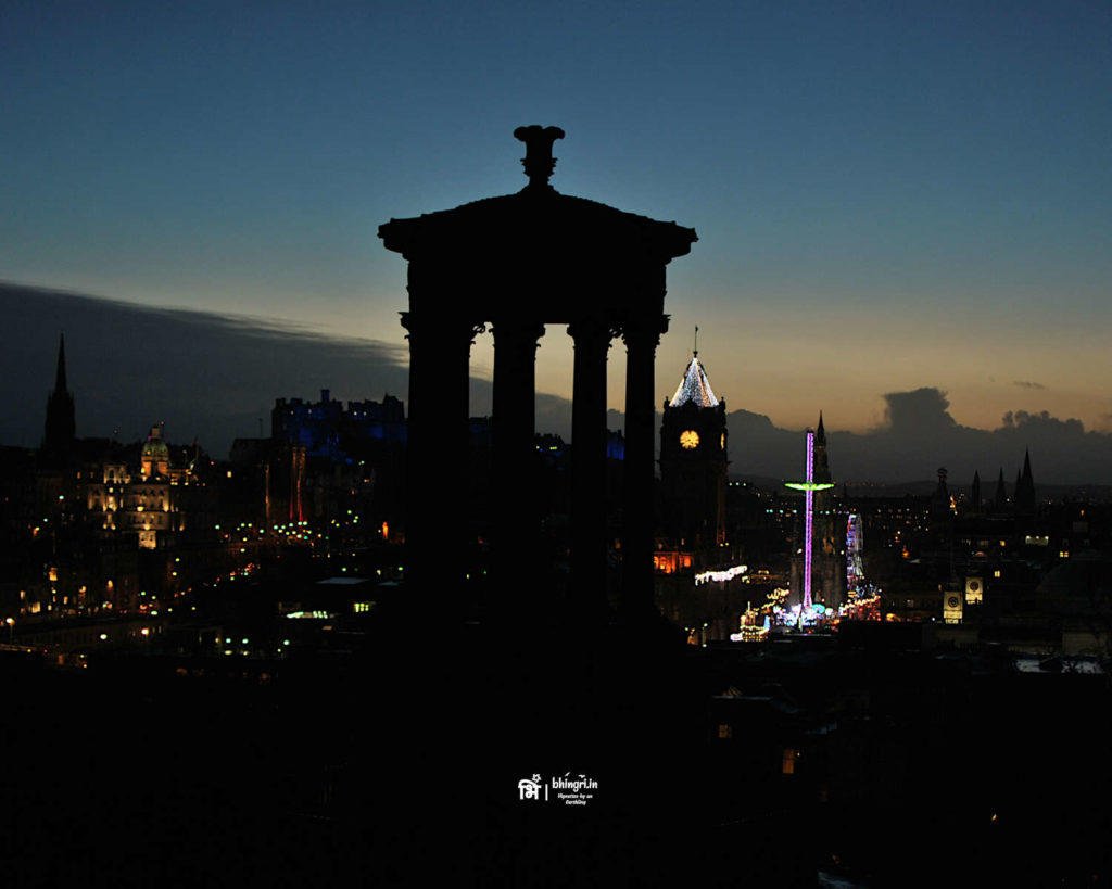 From Calton Hill, the city of Edinburgh