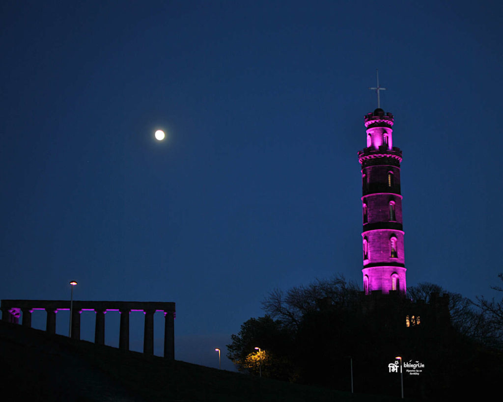 Calton Hill before the fireworks begin