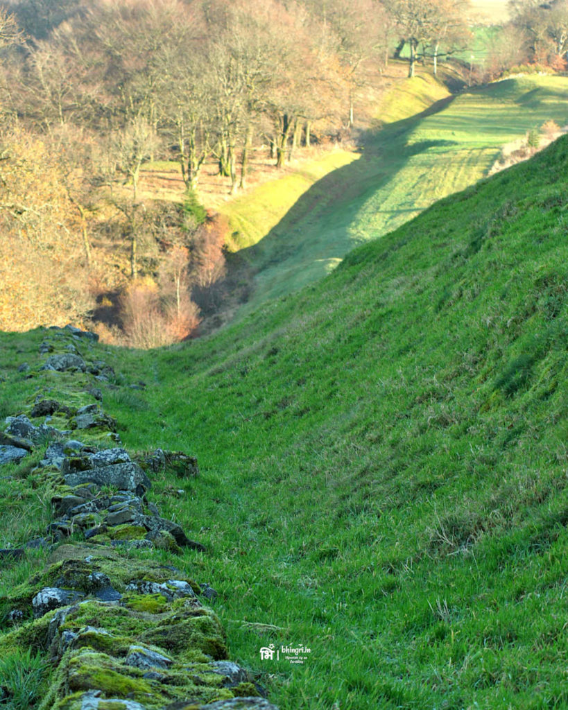 The Antonine Wall and the ditch at its base