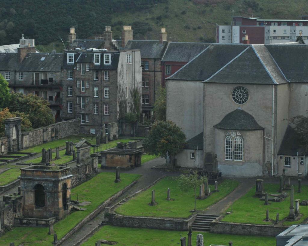 A cemetery in Edinburgh