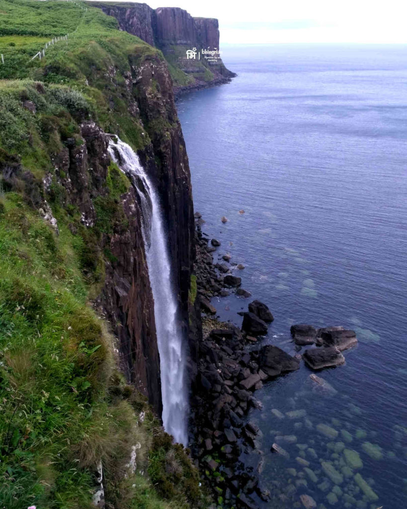 Mealt falls and the Kilt rock in the background