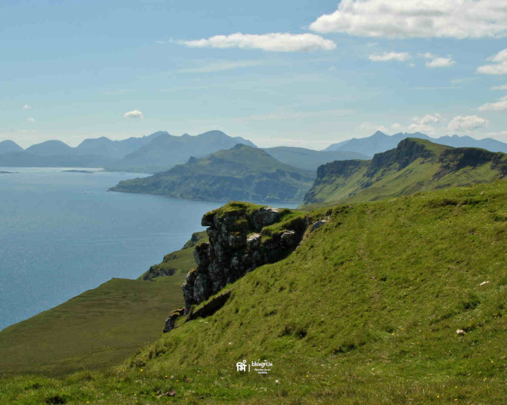 Trotternish peninsula on the Isle of Skye has the best views