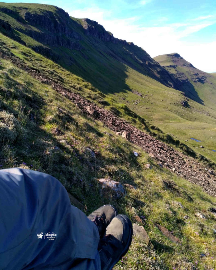 Finally reached up the ridge and back on to the Skye trail