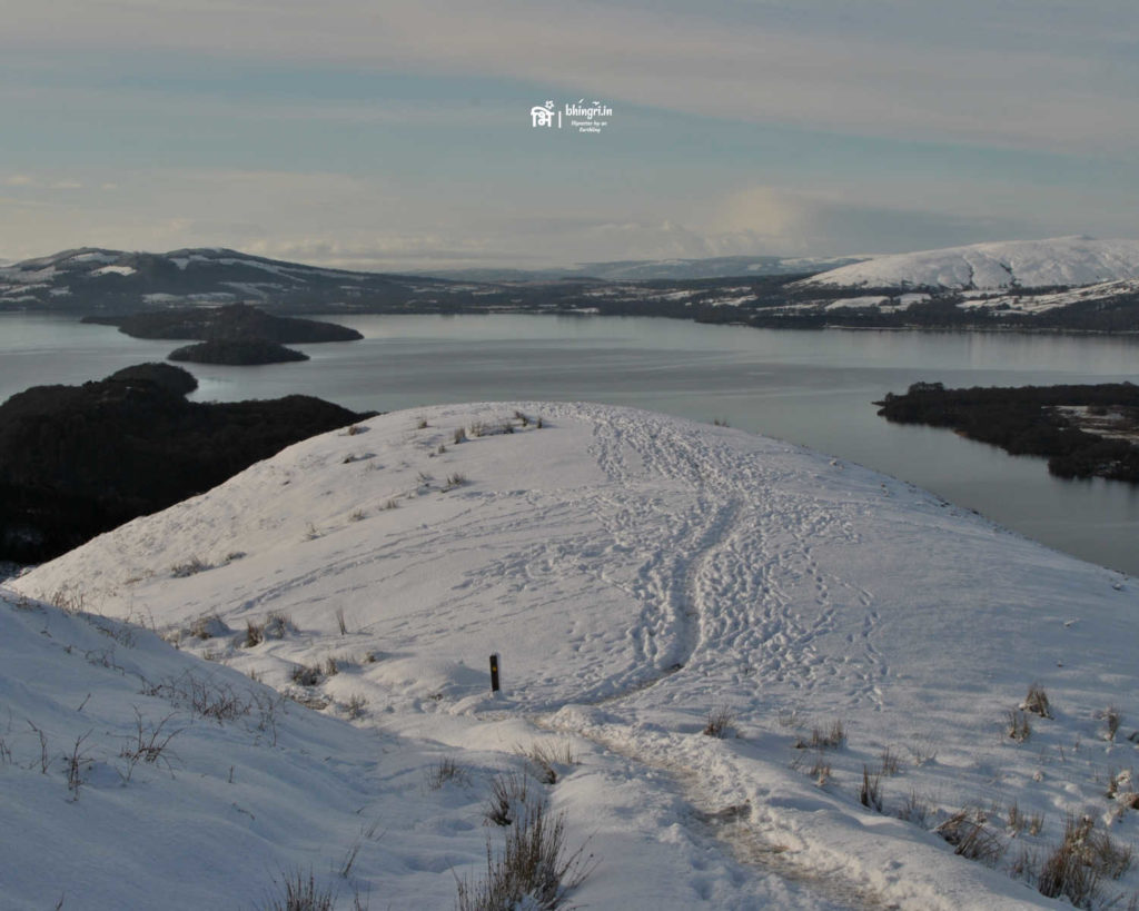 View from Conic Hill after fresh snow
