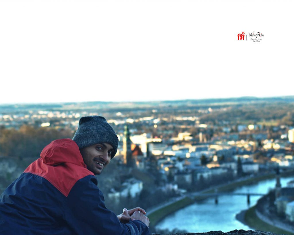 The fortress has a great view of Salzburg town