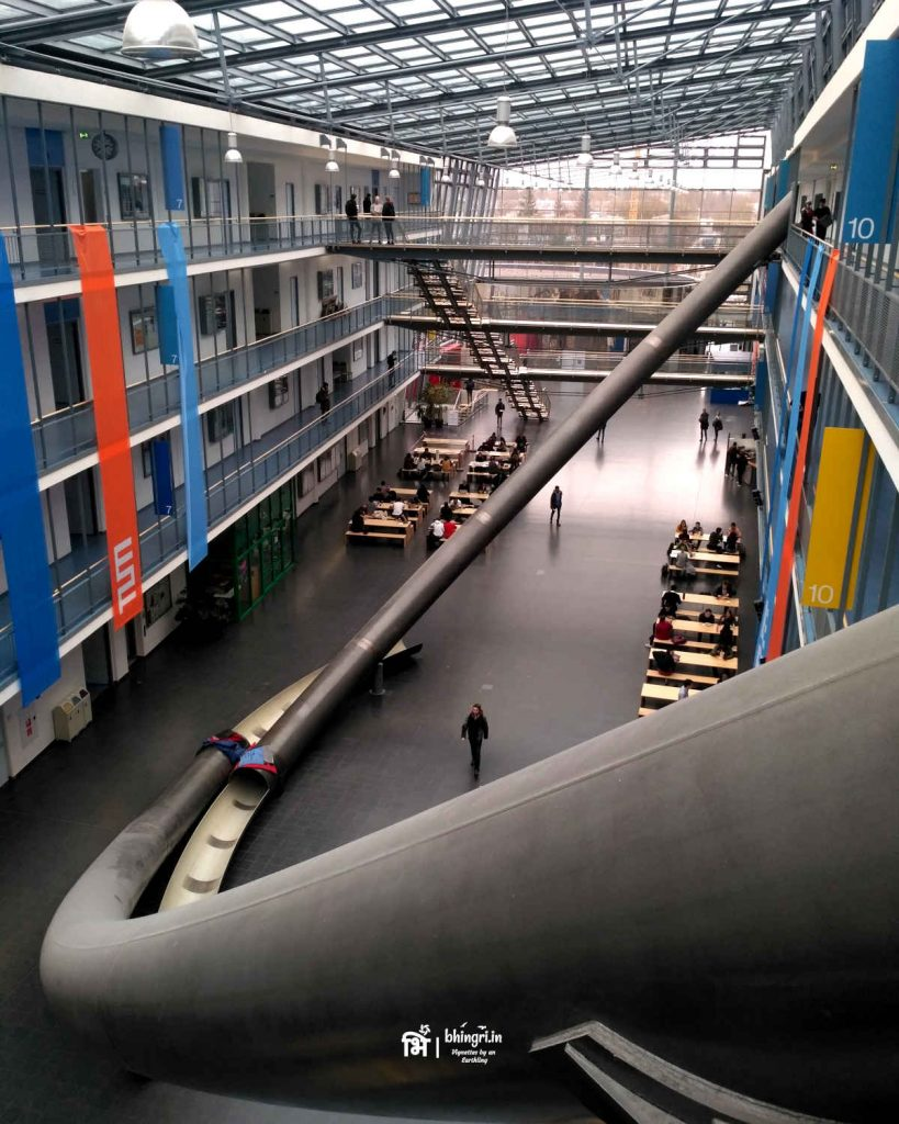 The parabolic slides at TUM. I did slide down on my last day!